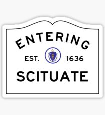 Entering Scituate - Commonwealth of Massachusetts Road Sign Sticker