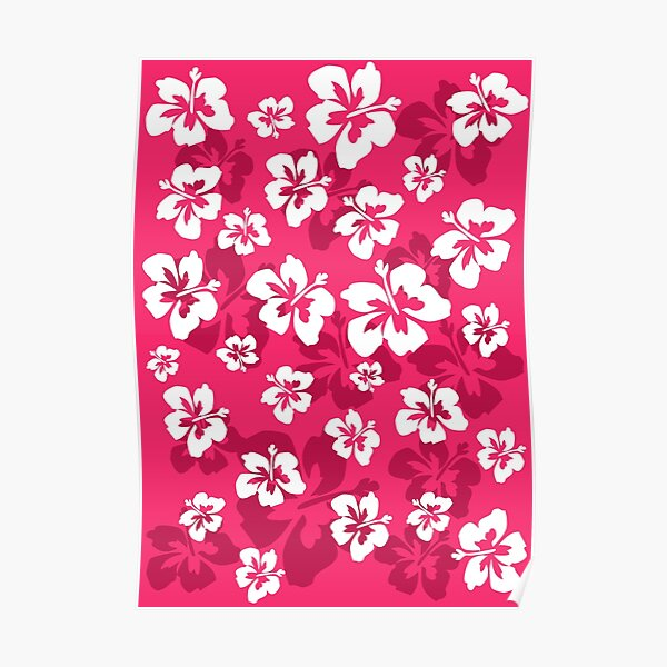 Coconut girl aesthetic hawaii pattern merch Poster