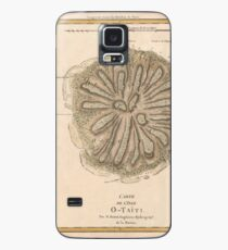 Map Of Tahiti 1788 Case/Skin for Samsung Galaxy
