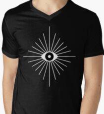 Electric Eyes - Black and White V-Neck T-Shirt