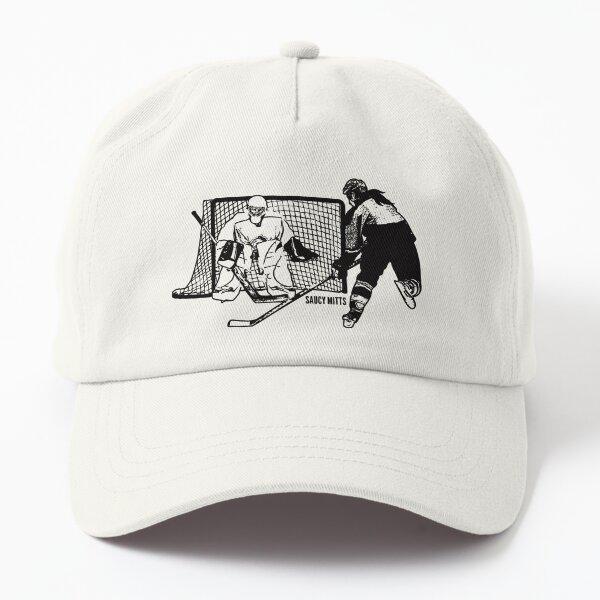 Women's Hockey Shot On Net Sketch Dad Hat