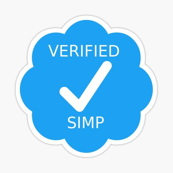 Verified Twitter Simp Sticker