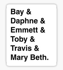 """Switched at Birth"" Characters - the kids Sticker"