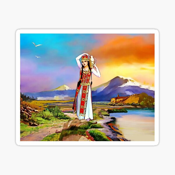 The Masis Ararat Lady Armenia Sticker