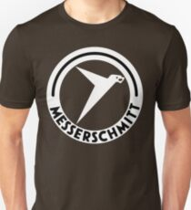 Messerschmitt Aircraft Logo -White- (No Label) Unisex T-Shirt
