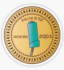 In H.E.L.P.eR. We Trust Venture Bros. Sticker