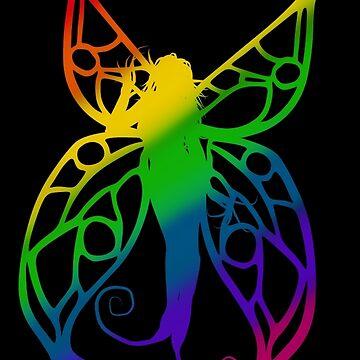 Fae Silhouette Rainbow by ChePanArt
