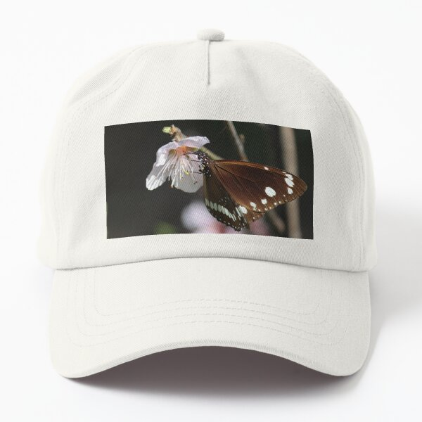 Common Crow Butterfly and Peach Blossom Dad Hat