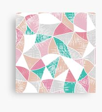 Abstract graphic pattern. Fun triangles.  Canvas Print
