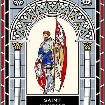 ST MAURICE under STAINED GLASS by CatholicSaints