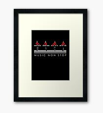 PIXEL8 | Music Non Stop | Red Framed Print