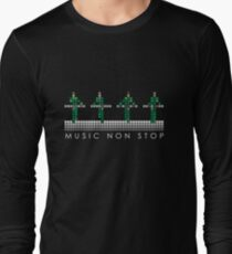 PIXEL8 | Music Non Stop | Green Long Sleeve T-Shirt