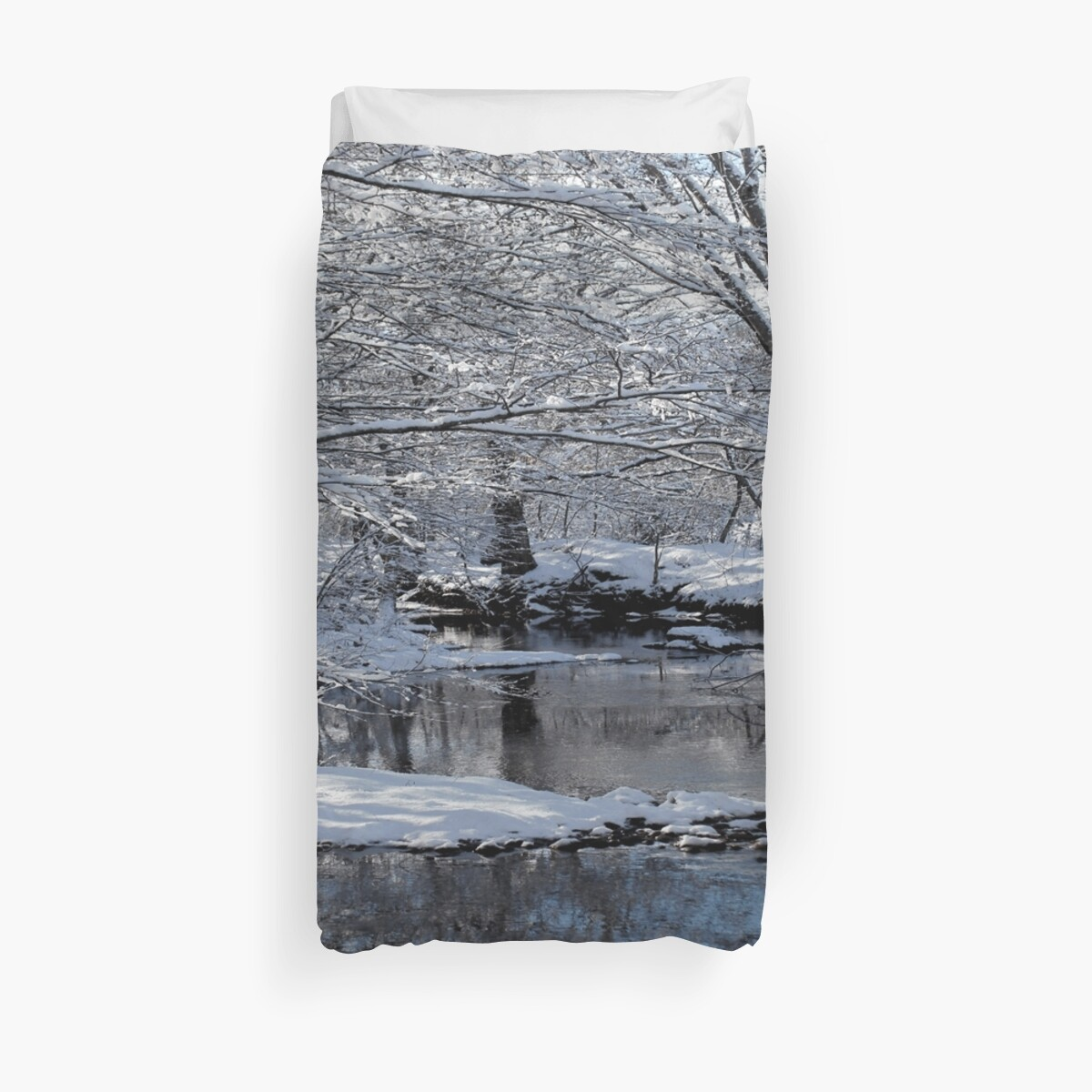 Snow Fallen Saco River - New Hampshire by CapeCodGiftShop