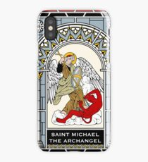 ST MICHAEL THE ARCHANGEL under STAINED GLASS iPhone Case/Skin