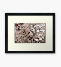 stronger than reality  Framed Print