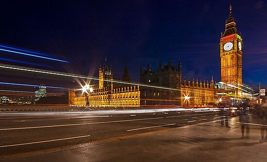 WESTMINSTER AT NIGHT by Matthew Burniston