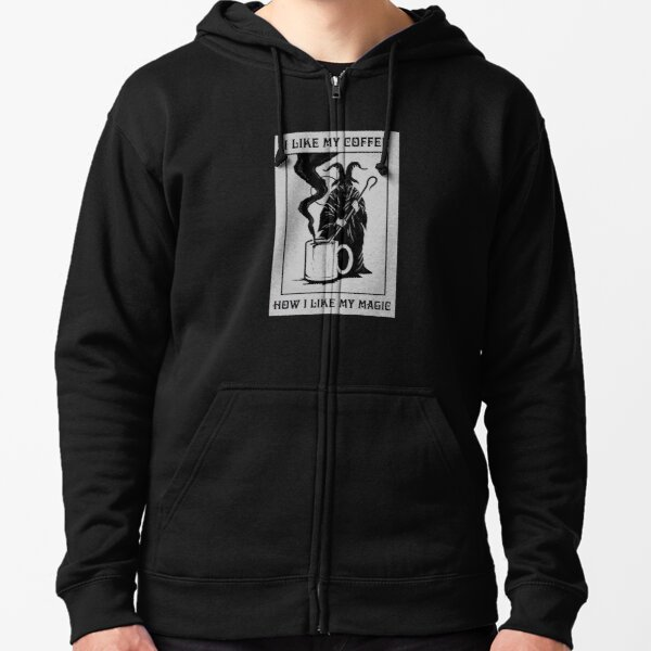 Black Magic Zipped Hoodie