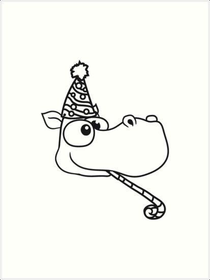 Geburtstag Feiern Party Hut Gesicht Kopf Trote Geschenk Comic