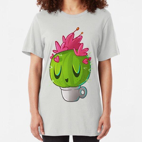 cute cactus Slim Fit T-Shirt