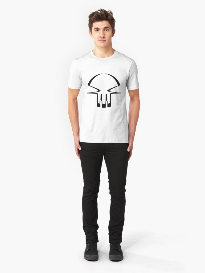 Alternate view of race skull - black Slim Fit T-Shirt
