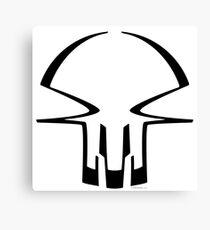 race skull - black Canvas Print