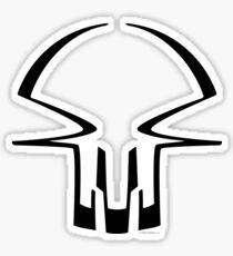 race skull - black Sticker