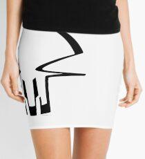 race skull - black Mini Skirt