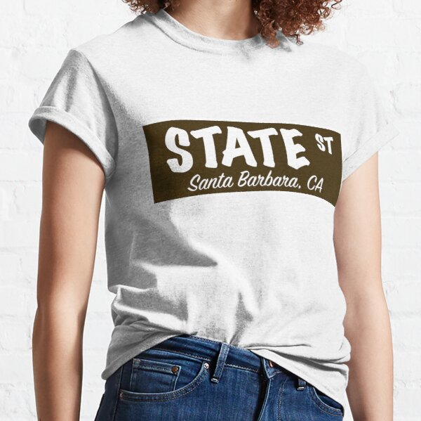 State Street Sign- Brown Classic T-Shirt