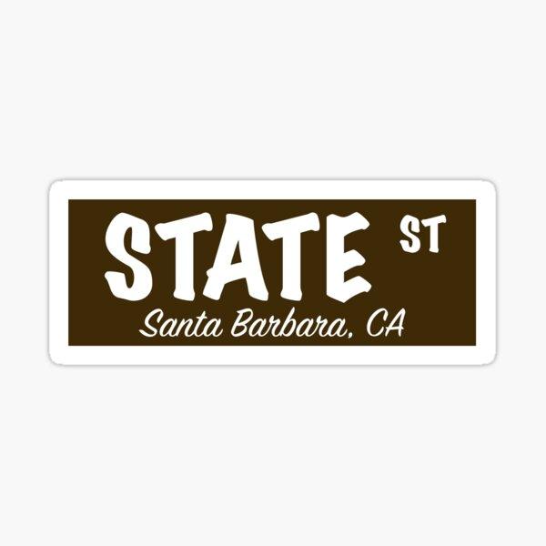 State Street Sign- Brown Sticker