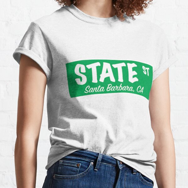 State Street Sign- Green Classic T-Shirt