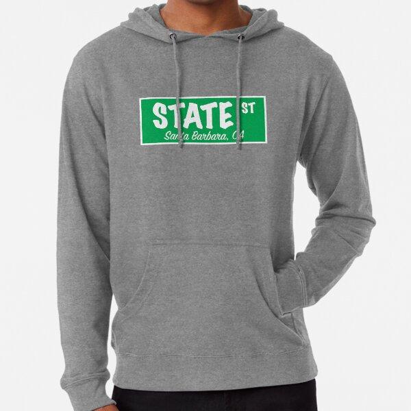 State Street Sign- Green Lightweight Hoodie