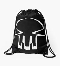 Race Skull - white Drawstring Bag