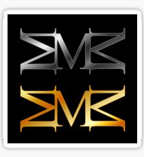 Alphabet M logo in gold and silver  Sticker