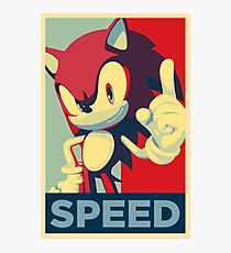 Sonic the Hedgehog -- Obama Hope Poster Parody Photographic Print
