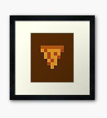 8bit Pizza Framed Print