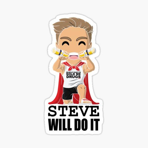 Steve Will Do It Funny Youtuber Sticker