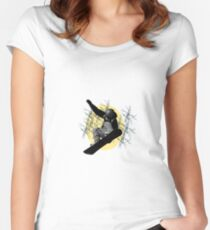 Ice skate Women's Fitted Scoop T-Shirt