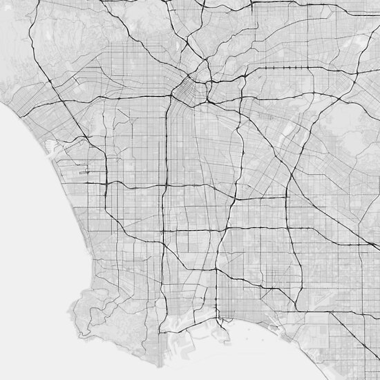 Usa Map Black.Los Angeles Usa Map Black On White Posters By Graphical Maps