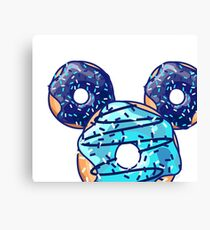Pop Blue Donut Canvas Print