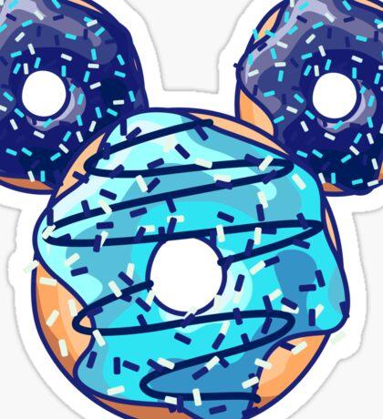 Pop Blue Donut Sticker