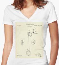 Whirligig-1866 Women's Fitted V-Neck T-Shirt