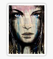 azalea blue Sticker