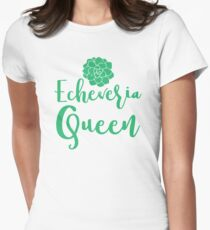 Echeveria Queen (succulent) Women's Fitted T-Shirt