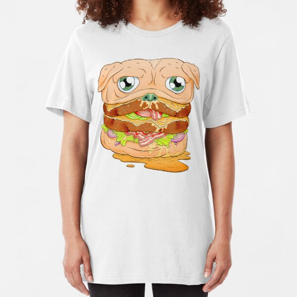 WELCOME TO PUG BURGER Slim Fit T-Shirt