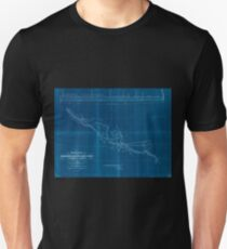 0332 Railroad Maps Preliminary sketch of the Northern Pacific Rail Road exploration and survey by I I Stevens Governor of Washington Inverted Unisex T-Shirt