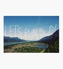 Let's Run Away VIII Photographic Print