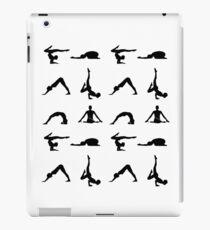 Yoga poses silhouette  iPad Case/Skin