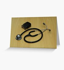 stethoscope and stamp Greeting Card