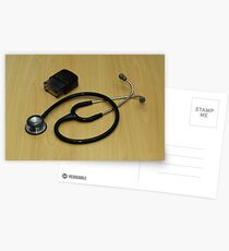 stethoscope and stamp Postcards