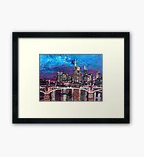 Frankfurt Main Germany - Mainhattan Skyline Framed Print